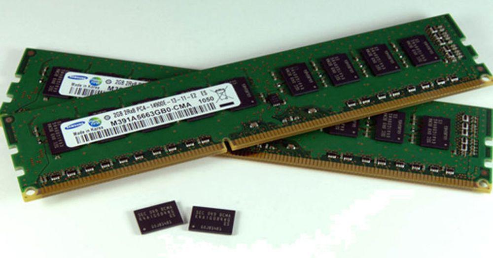 De første DDR4 minnemodulene fra Samsung.