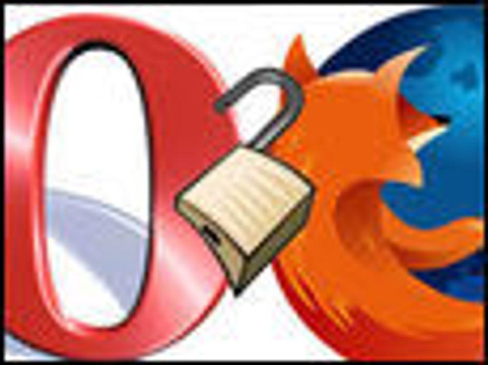 Fjerner sårbarheter i Opera og Firefox