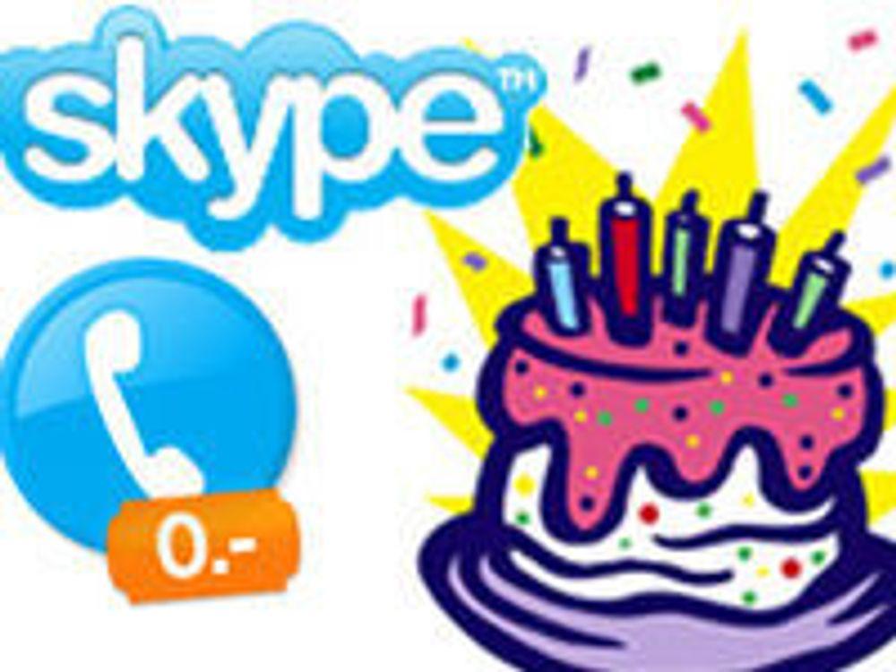 Skype fyller fem år