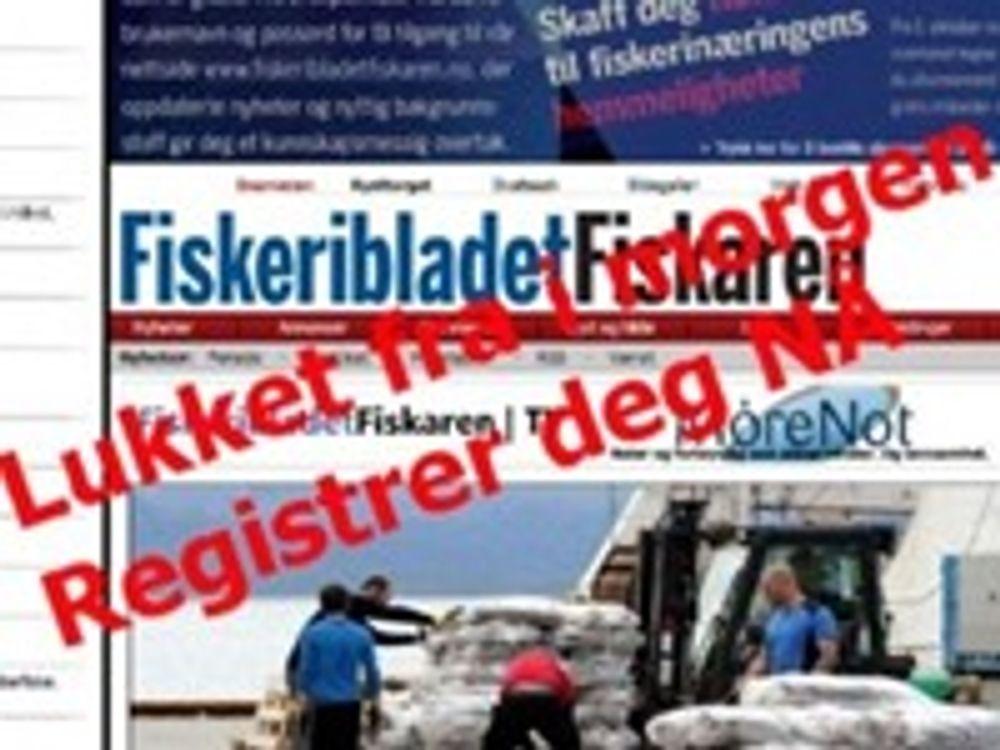 Fiskaren vil ta betalt for nettutgaven
