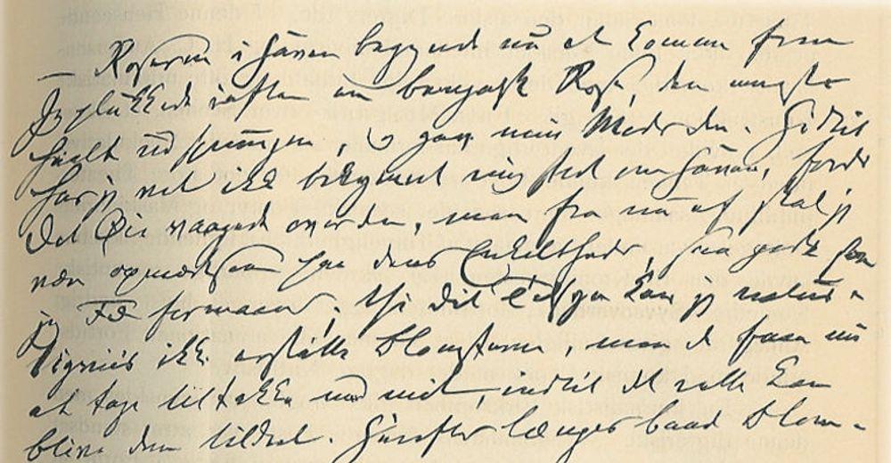 Håndskrift fra den danske dikteren Johan Ludvig Heiberg (1791-1860). Man skjønner hvorfor sensorene gleder seg til eksamen.