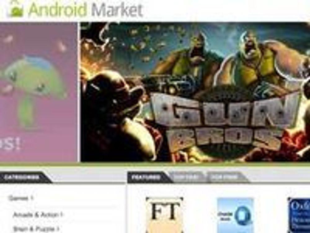 Android Market-nettstedet gjør det mulig for Android-brukere å installere mobilapplikasjoner fra nettleseren til pc-en.
