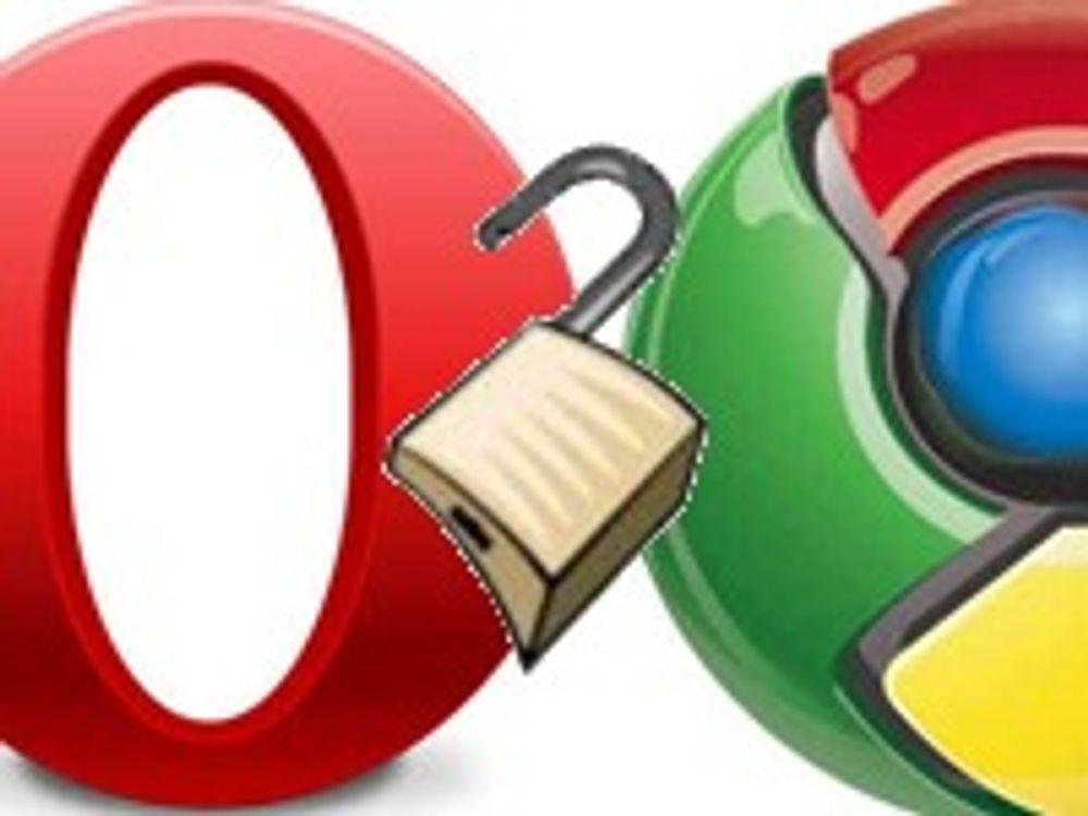 Google og Opera med sikkerhetsfikser