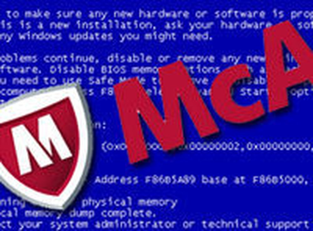 McAfee betaler for antivirus-tabbe