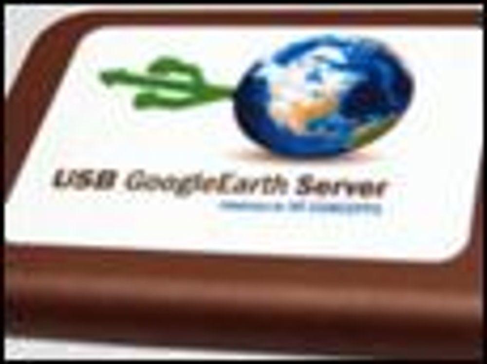 Putt en Google Earth-server i ryggsekken