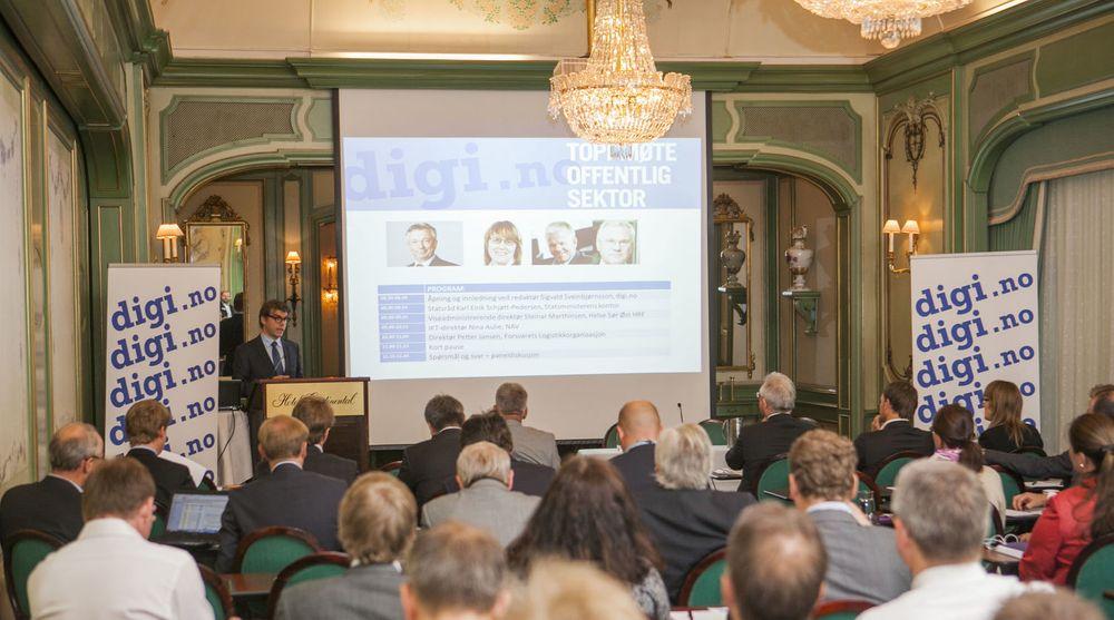 Det var god oppslutning om digi.nos Toppmøte Offentlig Sektor, som ble arrangert i midten av juni. Den gangen kom topper fra offentlig sektor for å utfordre IT-bransjen. 5. desember er det finansbransjen sin tur.