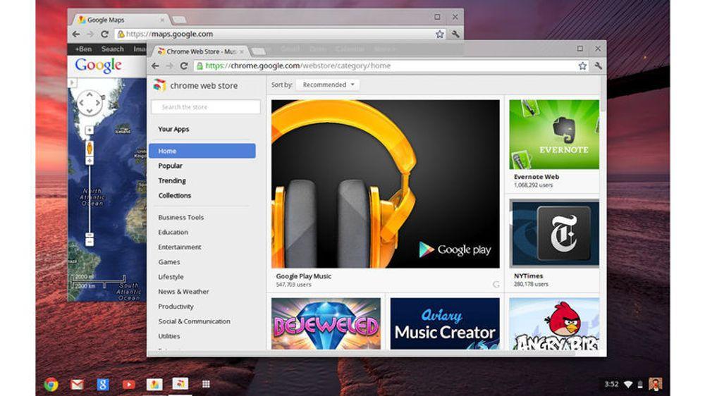 Brukergrensesnittet i Chrome OS ligner nå langt mer på blant annet Windows.