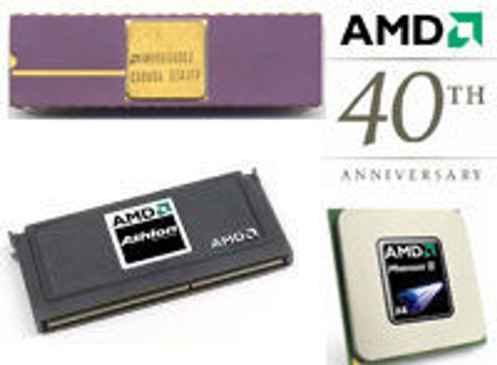 AMD feirer 40 år som lillebror