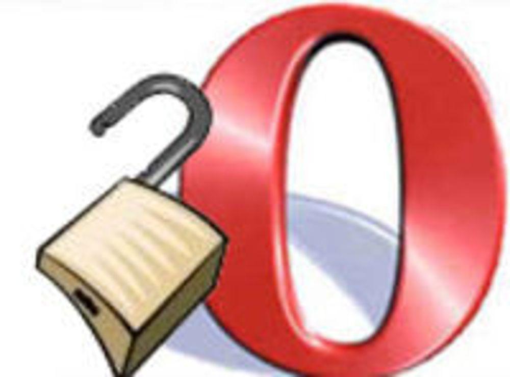 Opera forbereder sikkerhetsoppdatering