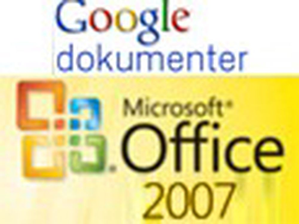 Google Docs med støtte for Office 2007-filer