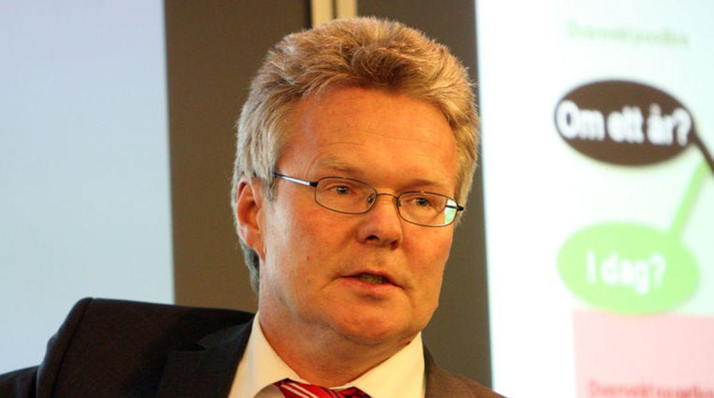EDB Ergogroup, med konsernsjef Terje Mjøs i spissen, hadde søndag store problemer med drift av viktige banksystemer.