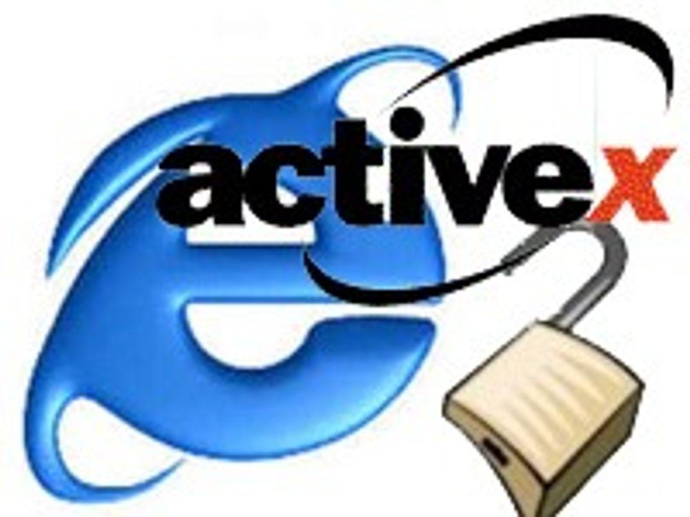 Åpner for frislipp av ondsinnet ActiveX-kode