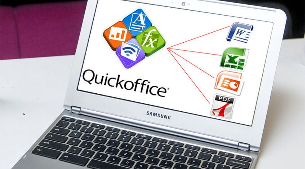 Google er i ferd med å utvikle en versjon av Quickoffice som kan kjøres i nettleseren Chrome og dermed også på Chromebooks som denne fra Samsung.