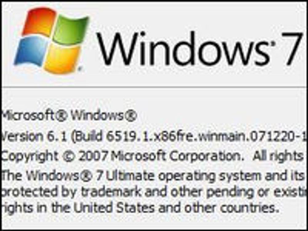 Kommer Windows 7 allerede til sommeren?