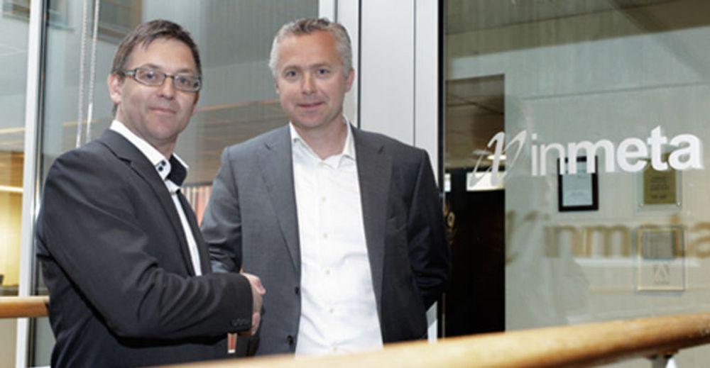 Enige om oppkjøp: (fra v.) Daglig leder i Osiris Pål Børseth-Hansen og konsernsjef i Inmeta Jarl Øverby.