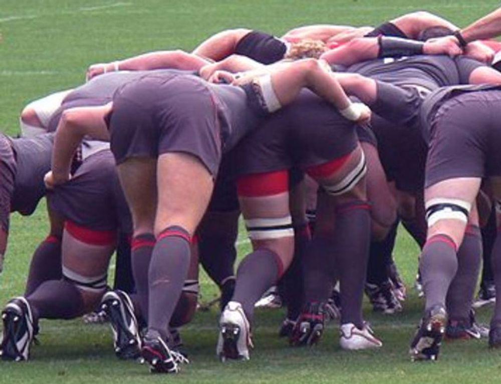 Utviklingsmetodikken  Scrum har hentet navnet fra en oppstilling i Rugby. Foto: Manuel, lisens: cc-by-sa-2.0