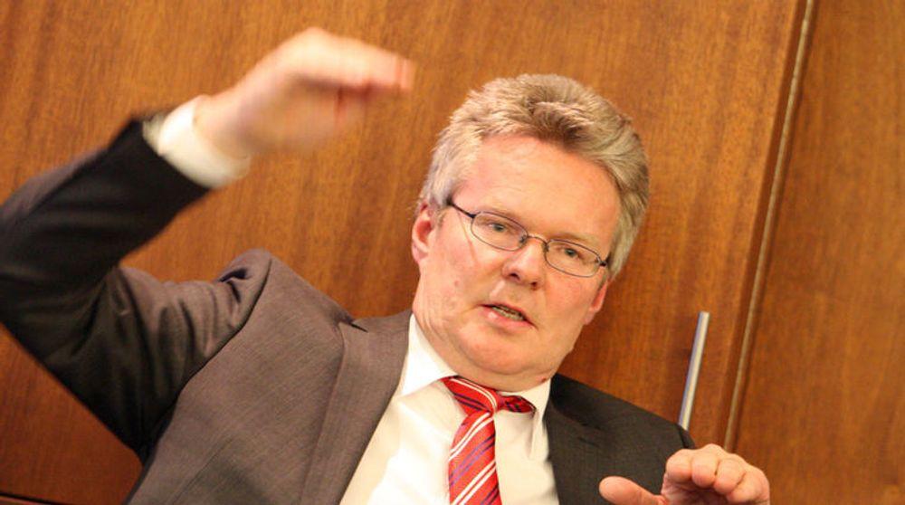 Evrys toppsjef Terje Mjøs kunne fremlegge et kjedelig resultat for fjerde kvartal.