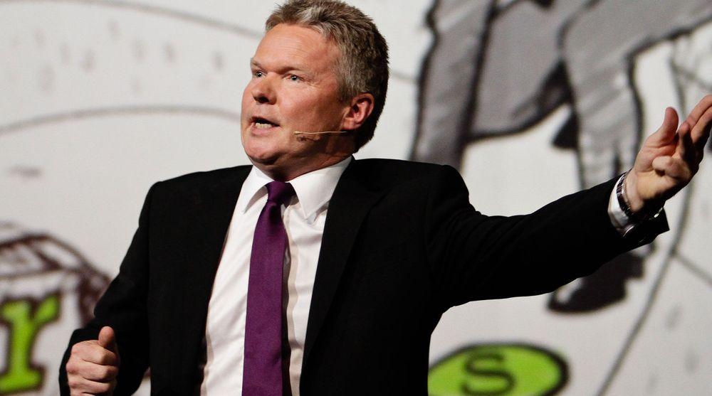 Konsernsjef Terje Mjøs i Evry har grunn til å være fornøyd. Selskapet blir fortsatt en viktig leverandør til Posten.