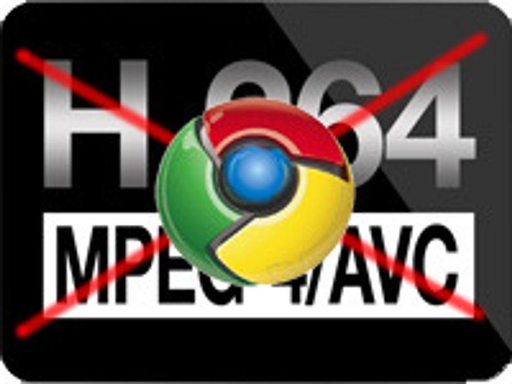 Google dropper H.264-støtten i Chrome