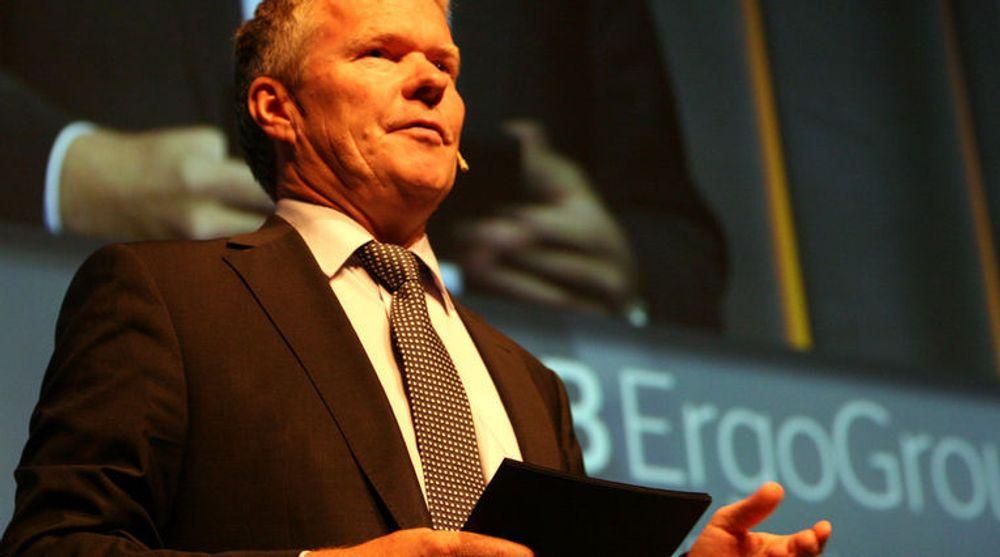 Konsernsjef Terje Mjøs i EDB Ergogroup ønsker å leie seg plass i et av de nye norske datasentrene som er på tegnebrettet.
