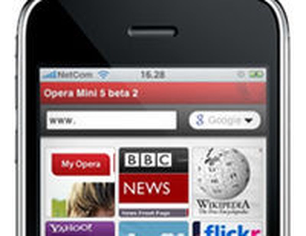 Opera Mini på iPhone