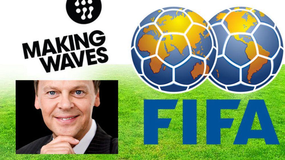 Making Waves fikk FIFA på kroken. En av deres største kontrakter til nå, ifølge direktør Dag Honningsvåg (innfelt).