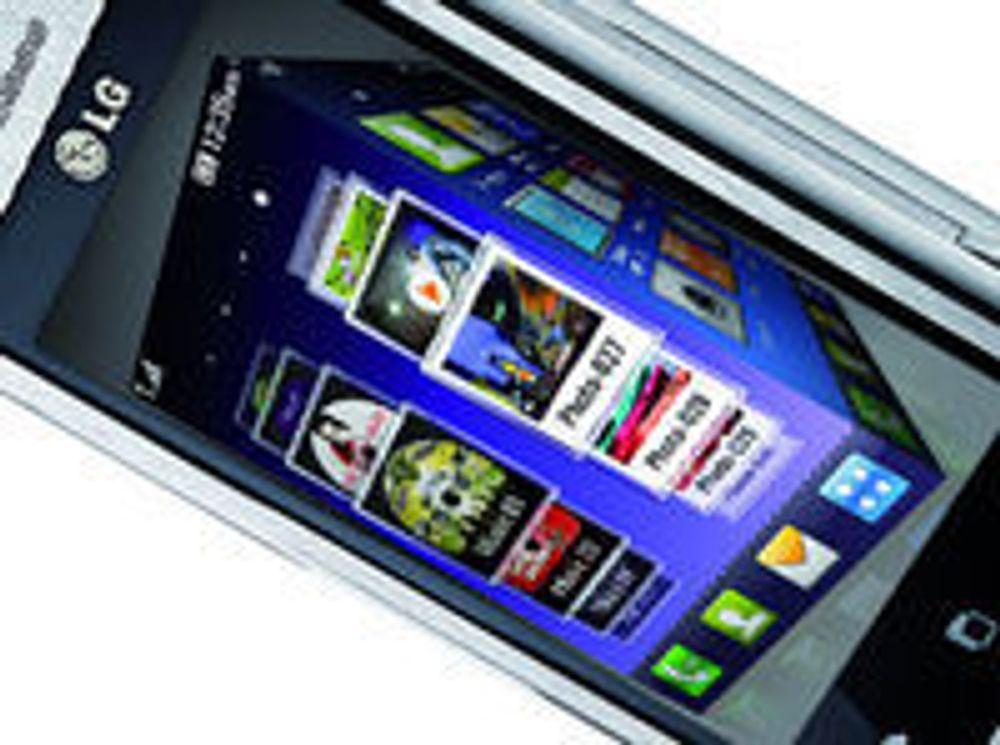 LG med kubeformet mobilgrensesnitt