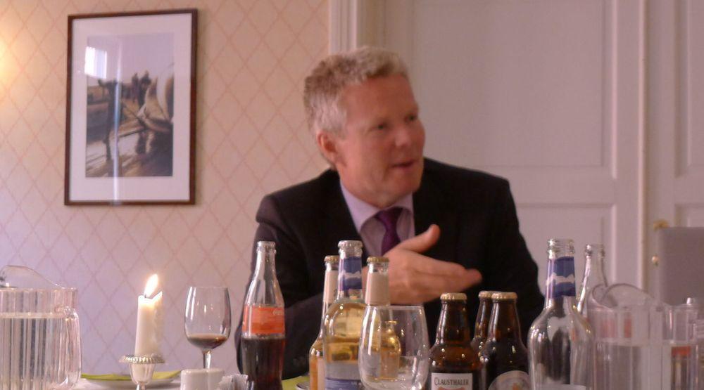 Evrys konsernsjef Terje Mjøs møtte IT-pressen under IT-tinget i Tønsberg. Nå har han bestemt seg for å satse tungt på offshoring av datadrift.