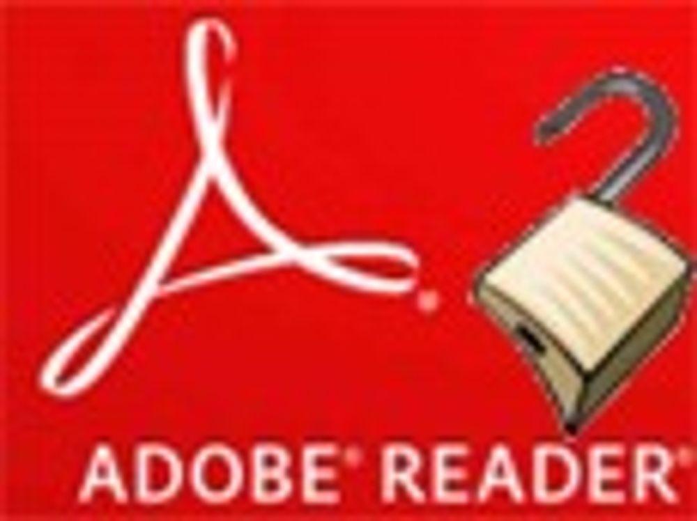 - Slutt å bruke Adobes PDF-leser