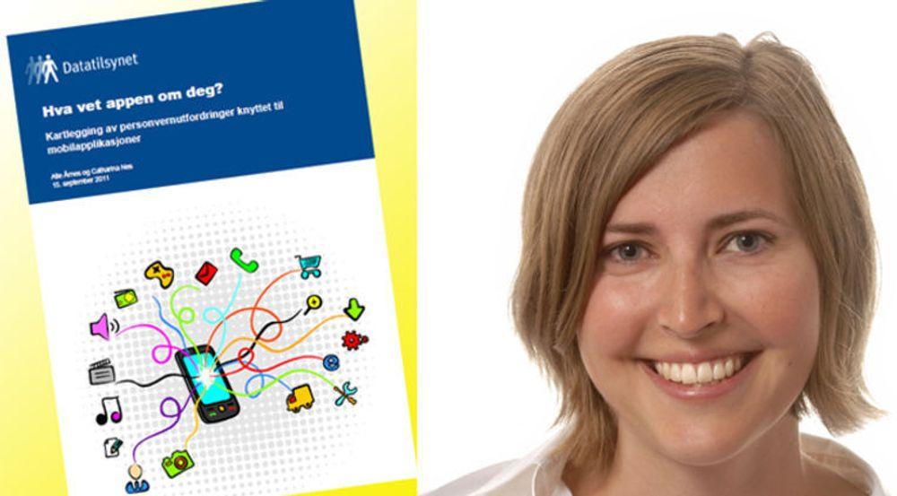 Appen som Solvår Bø har laget sammen med Stian Pedersen, skal løse utfordringen kartlagt av Datatilsynet i rapporten Hva vet appen om deg?