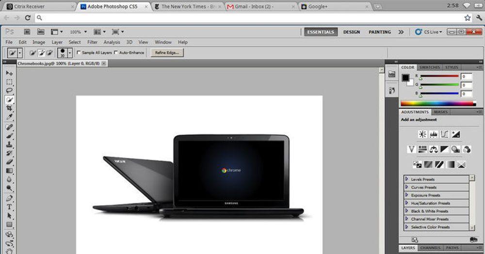Det er nå mulig å kjøre Windows-programvare som Photoshop på Chrome OS gjennom virtualiseringsløsningen til Citrix.