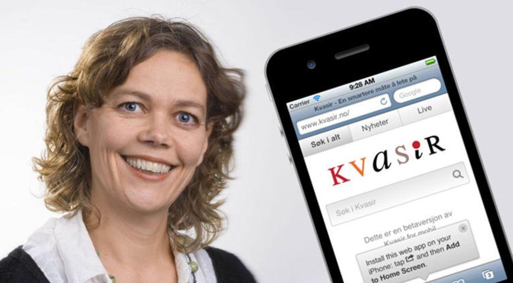 Kvasir har fått hodet over vannet, og satser nå på egen mobilutgave, forteller sjefen i søkeselskapet, Ingrid Støver Jensen.