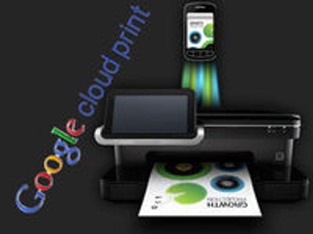 Først med skrivere for Google Cloud Print