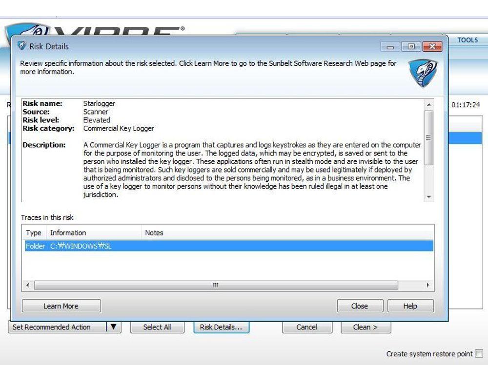 GFIs antivirus Vipre tolket språkpakken til Windows Live som tastetrykkloggeren StarLogger.