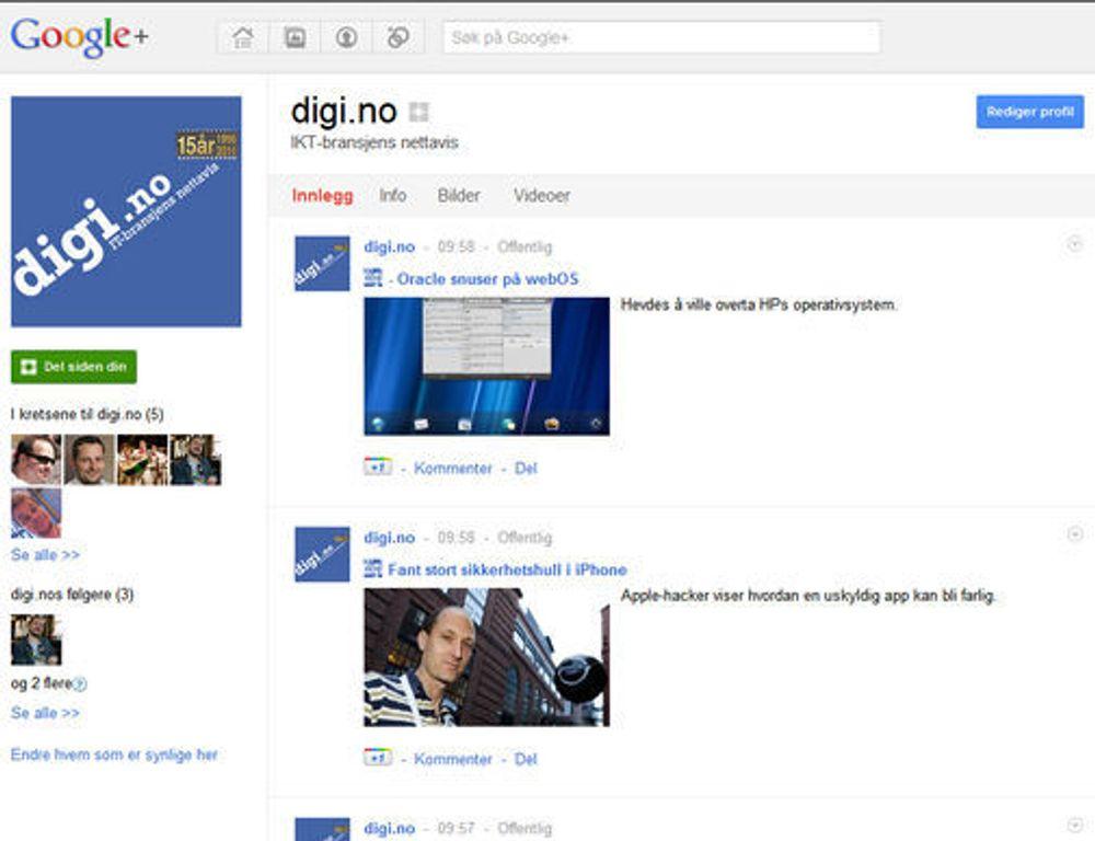 Klager på mangler i de nye Google+-sidene