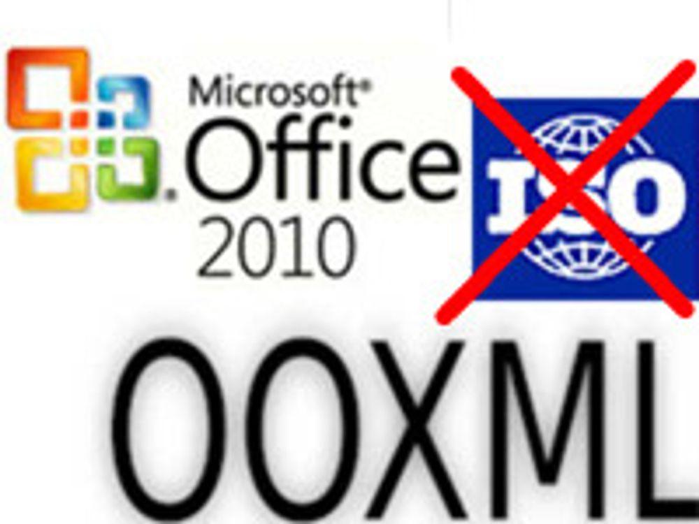Office 2010 uten full OOXML-støtte