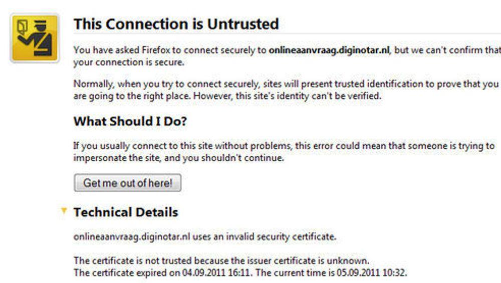Forfalsket over 500 sikkerhets-sertifikater