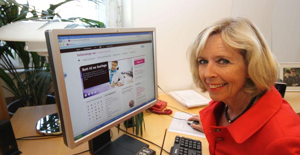 Statsråd Anne-Grete Strøm-Erichsen lover at portalen skal utvikles videre.