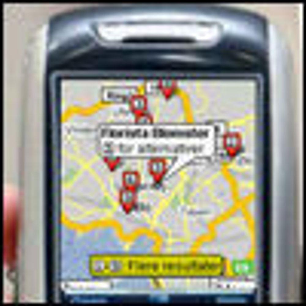 Google-lokalisering for mobiler uten GPS