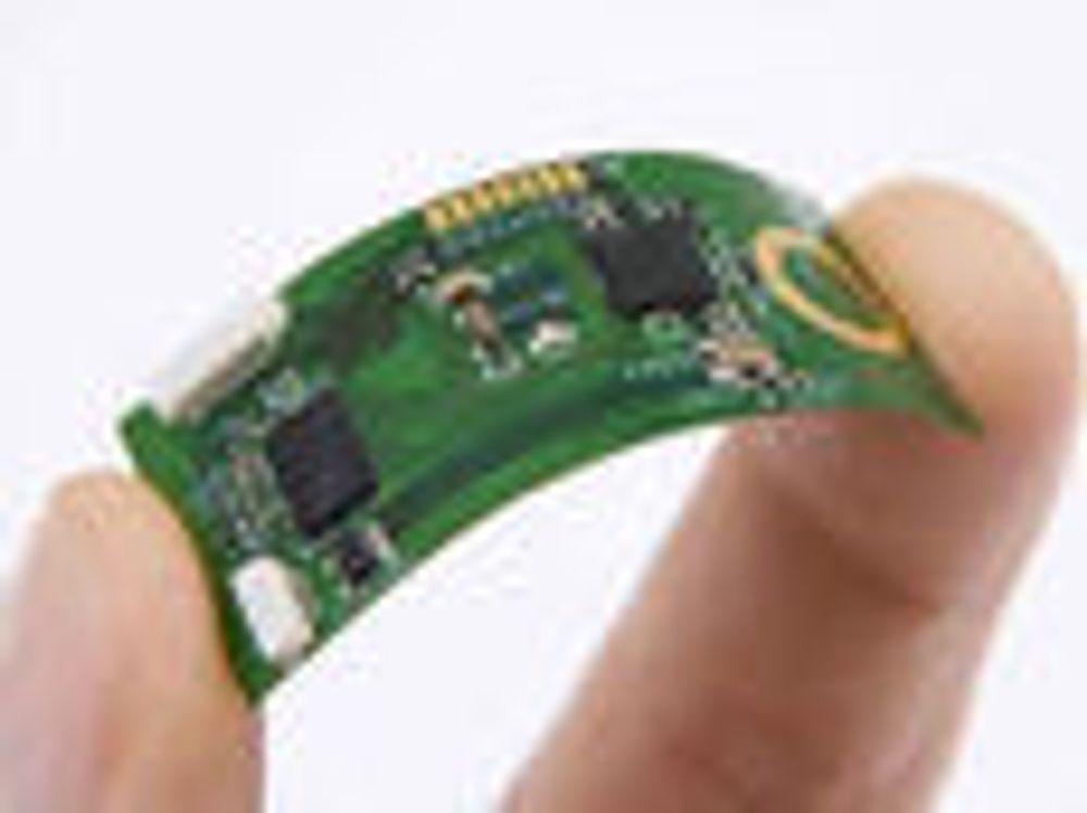 Imecs prototyp av et bøyelige system for overvåking av blant annet hjerterytme