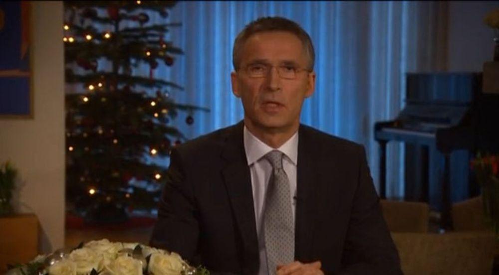 Statsminister Jens Stoltenberg (Ap) varslet lovforslag som skal forby sjikane på nett i sin nyttårstale.