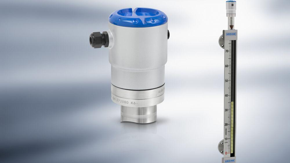 Optiwave 1010 fra Krohne er en radar nivåtransmitter for bypasskamre og magnetindikatorer.