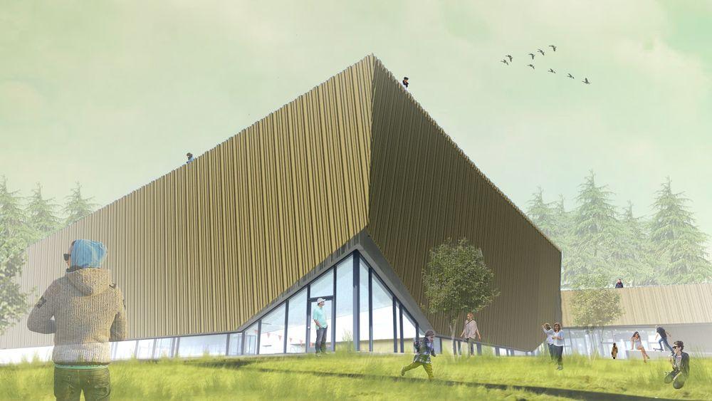 Holmen svømmehall  skal, om alt går etter planen, bli Norges første rene passivhus-svømmehall.