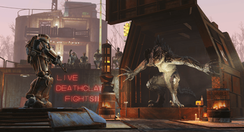Gladiatorkamper og flere byggemuligheter kommer til Fallout 4 neste uke