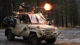 Den første multi-oppgraderingen startet i 2001. Bildet er fra en øvelse i 2011 i forkant av oppdrag i Afghanistan.