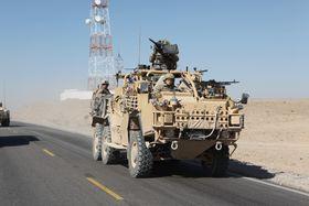 Amerikansk HMT Extenda med britisk og australsk personell, i tillegg til amerikansk, i Afghanistan i 2011.