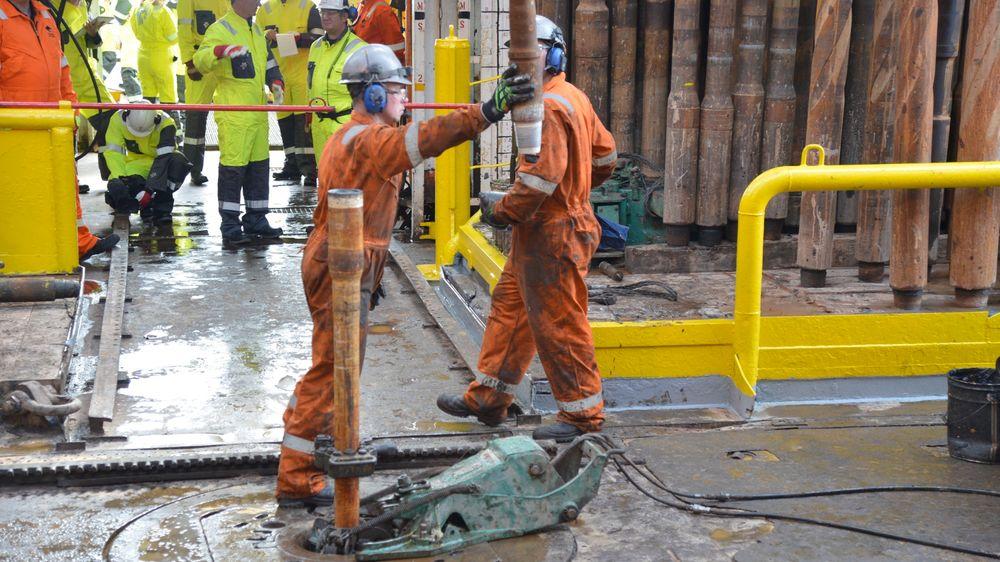 Drilling floor on Ocean Vanguard