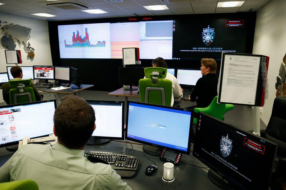 Forsvarets alarmsentral under oppstartsmarkering av Cyberforsvaret i 2012.