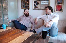 Endelig i eget hus: Daglig leder Marius Thorvaldsen (til venstre) og medgründer Borgar Ljosland har endelig kommet ordentlig i hus på Work-Work.
