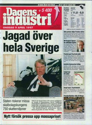 Dagens Industri 9. april 1997: Påtalemyndigheten besluttet senere ikke å reise straffesak mot Bertel Nathhorst.